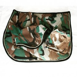 Saddle cloth with military...
